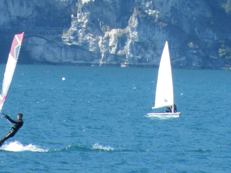 2015 Lake Garda - sailing upwind with laser foil