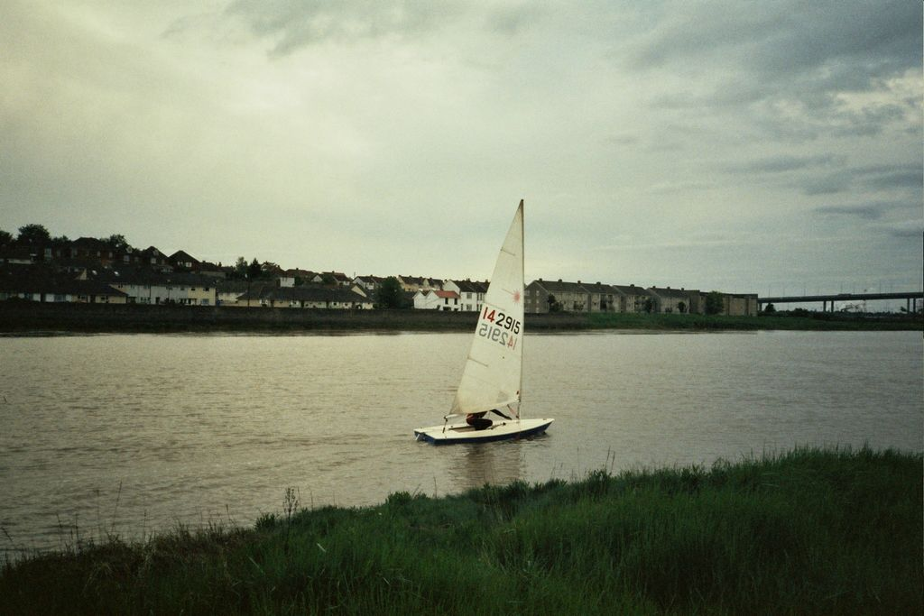 Sailing on the river in 2006
